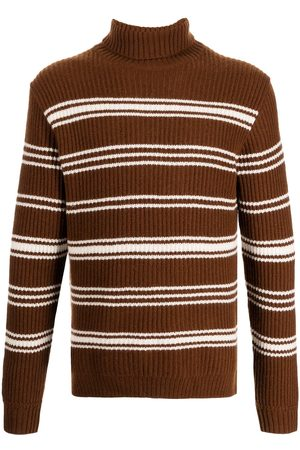 MAN ON THE BOON. Striped roll-neck jumper