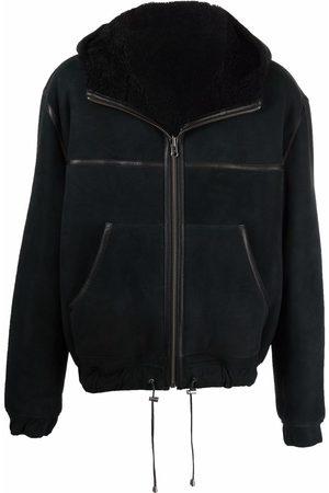 Isabel Marant Men Leather Jackets - Hooded shearling jacket