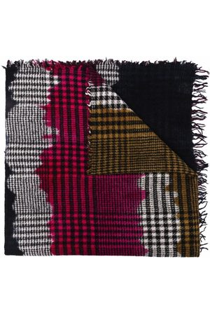 Faliero Sarti Women Scarves - Checked frayed scarf
