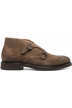 Doucal's Men Ankle Boots - Buckled suede ankle-boots