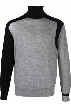 Neil Barrett Men Turtlenecks - Rollneck wool jumper - Grey