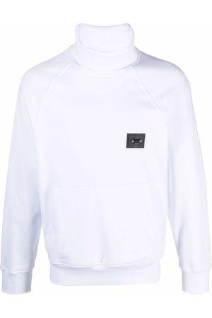 Neil Barrett Men Turtlenecks - Logo-patch rollneck sweatshirt