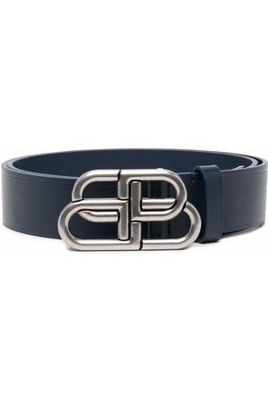 Balenciaga Men Belts - Logo-buckle leather belt