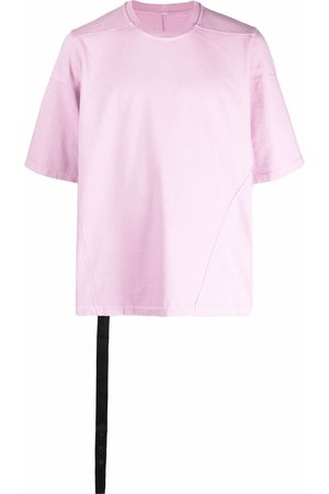 Rick Owens Men Short Sleeve - Strap-detail shortsleeved T-shirt