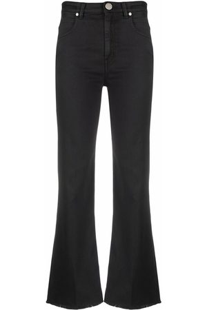 PT05 Mid-rse cropped flared jeans