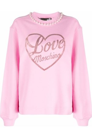 Love Moschino Women Sweatshirts - Logo graphic-print cotton sweatshirt