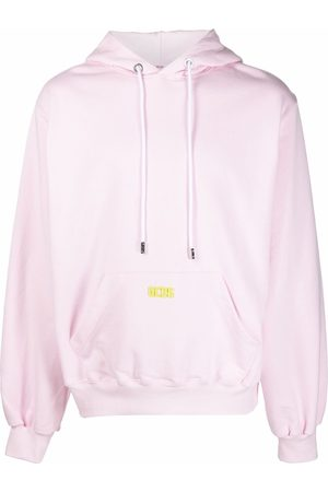 GCDS Logo-plaque relaxed-fit hoodie