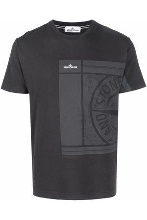 Stone Island Men Short Sleeve - Compass logo-print short-sleeve T-shirt - Grey