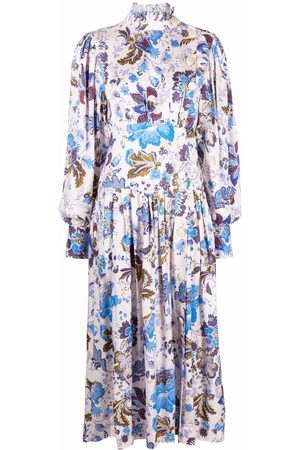 Isabel Marant Women Printed Dresses - Floral-print midi dress - Neutrals