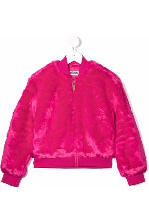 Moschino Fur For Fun faux-fur bomber jacket