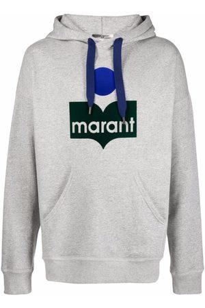 Isabel Marant Men Hoodies - Miley logo-print hoodie - Grey