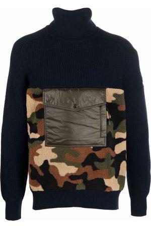 Moncler Men Turtlenecks - Camouflage-print roll-neck jumper