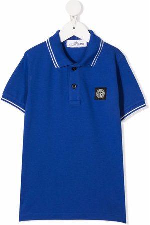 Stone Island Logo-patch polo shirts