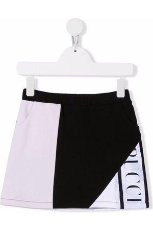 Emilio Pucci Logo-trim colourblock A-line skirt