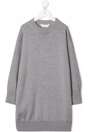 Palm Angels Intarsia logo knitted dress - Grey