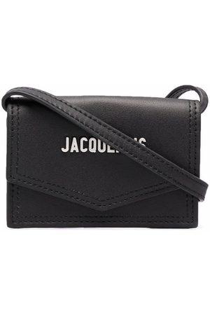 Jacquemus Men Wallets - Logo-plaque mini leather shoulder bag