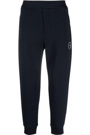 Emporio Armani Men Sweatpants - Logo-patch detail track pants