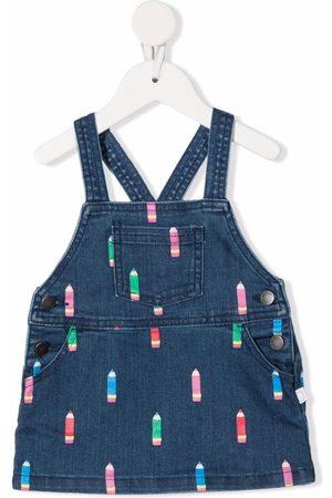 Stella McCartney Baby Printed Dresses - Pencil-print dungaree dress