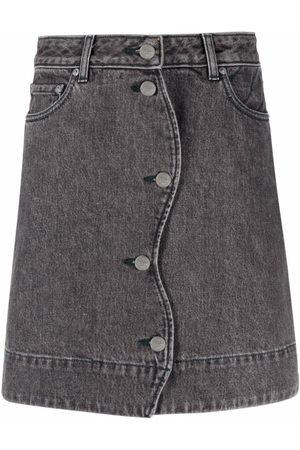 Ganni Women Denim Skirts - Straight denim skirt