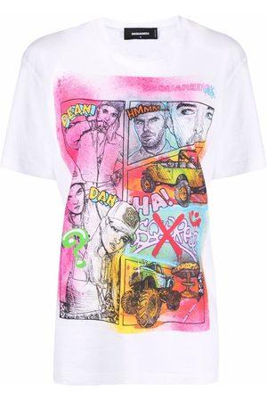 Dsquared2 Women T-shirts - Comic-print cotton T-shirt