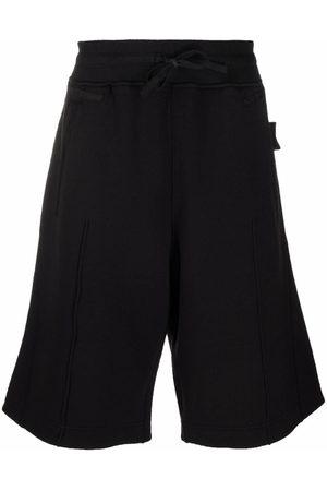 Stone Island Men Bermudas - Logo-patch knee-length Bermuda shorts