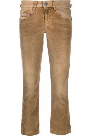 Diesel Women Flares - Flared cropped jeans - Neutrals