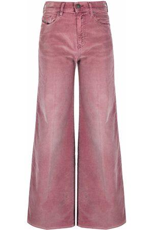 Diesel Women High Waisted - High-waist wide leg jeans