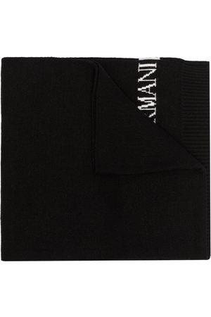 Emporio Armani Men Scarves - Intarsia-knit logo scarf