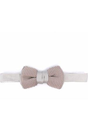 Lanvin Men Bow Ties - Fine-knit bow tie - Grey