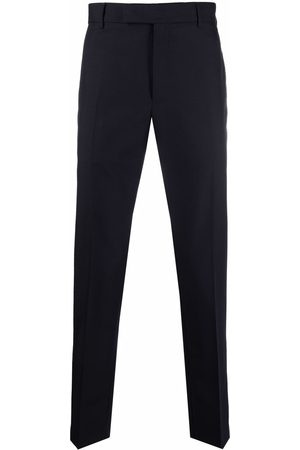 PT01 Men Formal Pants - Pressed-crease wool-blend tailored trousers
