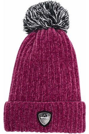 EA7 Ribbed-knit velvet beanie