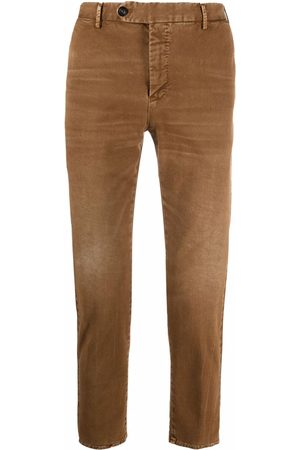 PT01 Whiskering-effect slim-cut trousers