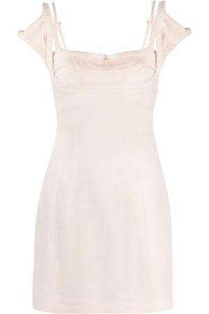 Jacquemus Women Party Dresses - Kibo stretch mini dress - Neutrals