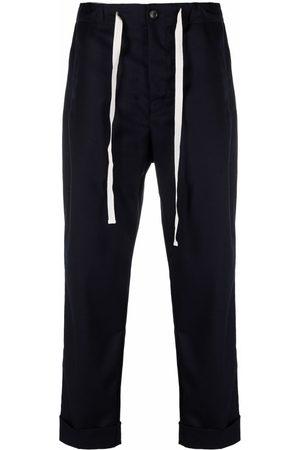 haikure Men Straight Leg Pants - Drawstring straight-leg trousers