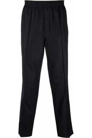 A.P.C. Men Straight Leg Pants - Woolen straight-leg trousers - Grey