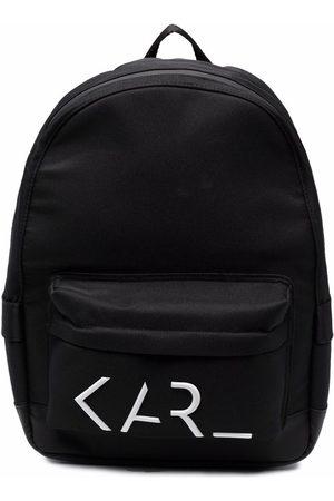 Karl Lagerfeld Boys Rucksacks - Logo-print zip-up backpack