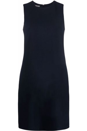 Emporio Armani Women Sleeveless Dresses - Round-neck sleeveless shift dress