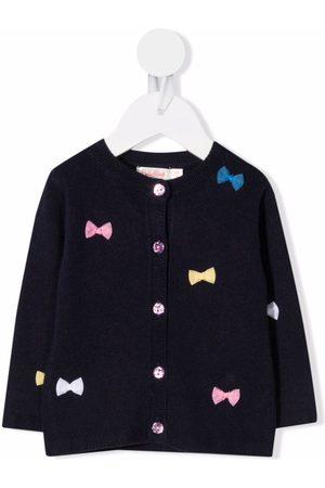 Billieblush Cardigans - Bow-embellished knitted cardigan