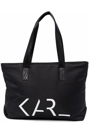 Karl Lagerfeld Girls Bags - Logo-print tote bag