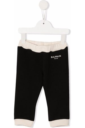 Balmain Baby Leggings - Contrast border leggings