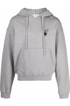 OFF-WHITE Men Hoodies - Logo-print hoodie - Grey