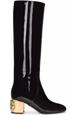 Dolce & Gabbana Women Thigh High Boots - DG-heel knee-length boots