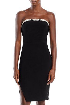 Aqua Strapless Braided Trim Dress - 100% Exclusive