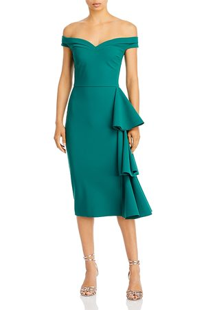 CHIARA BONI Willa Ruffled Off the Shoulder Dress
