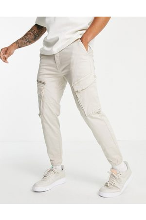 Pull&Bear Cargo pants in sand-Neutral