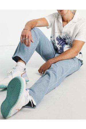 ASOS Baggy pants in pastel blue cord-Blues