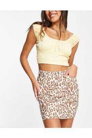 Daisy Street Mini skirt in leopard print - part of a set