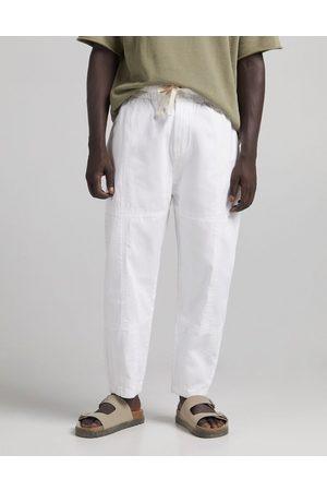 Bershka Berskha oversized textured pants in