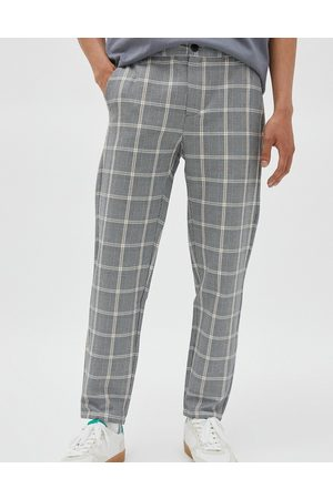 Pull&Bear Checked pants in -Grey