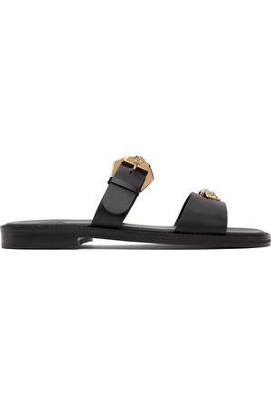 VERSACE Men Sandals - Black 'La Medusa' Sandals